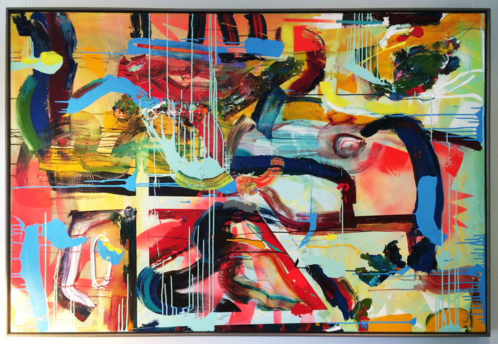 Abstract_acrylic-and-spray-paint-on-canvas_72-x-48-inches-framed_2011_installation-shot_A