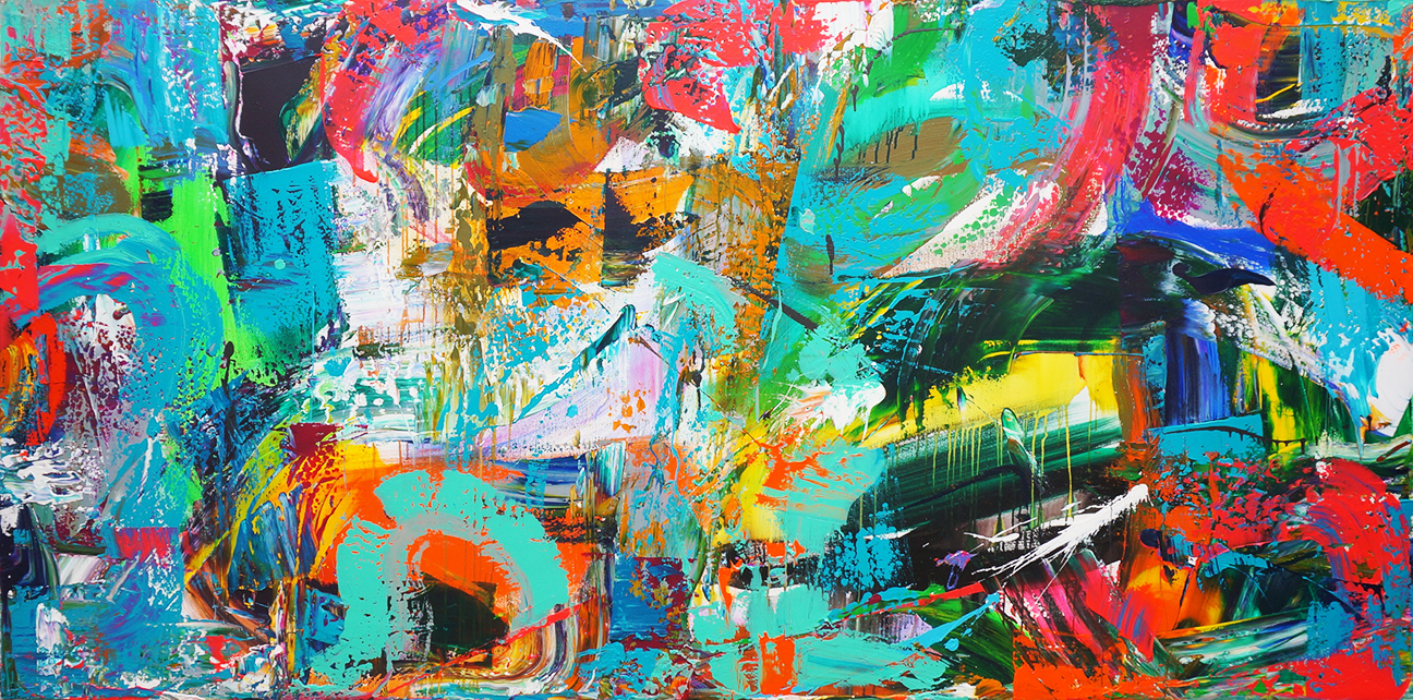 Abstract_acrylic on canvas_96 x 48 inches_2015