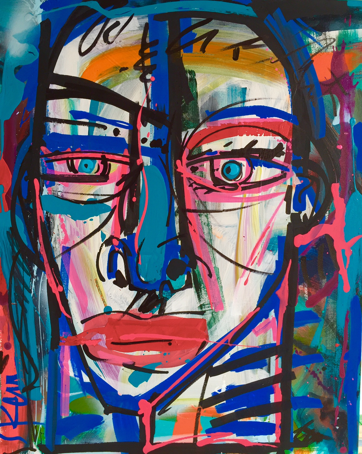 Face_acrylic on canvas_24 x 30 inches_2016_SOLD_1
