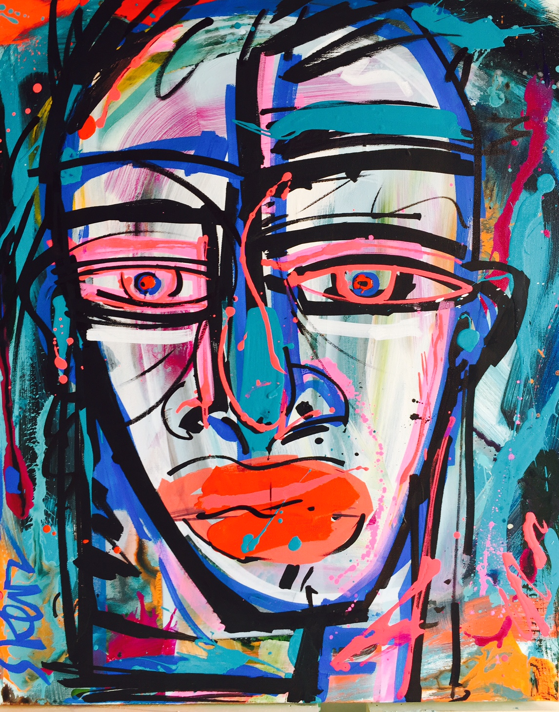 Face_acrylic on canvas_24 x 30 inches_2016_SOLD_2