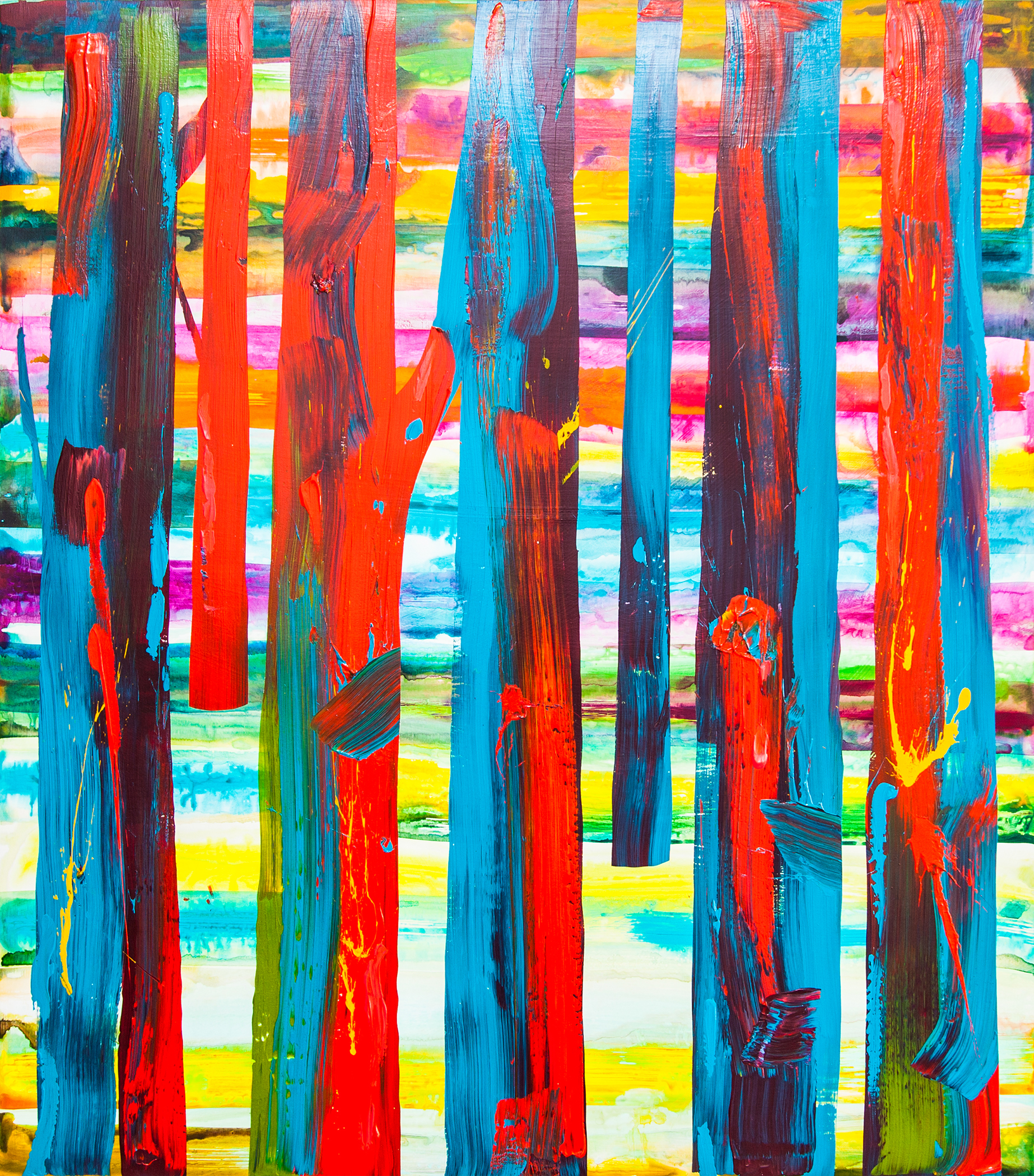 Abstract Trees No.1_42 x 48 inches_2017