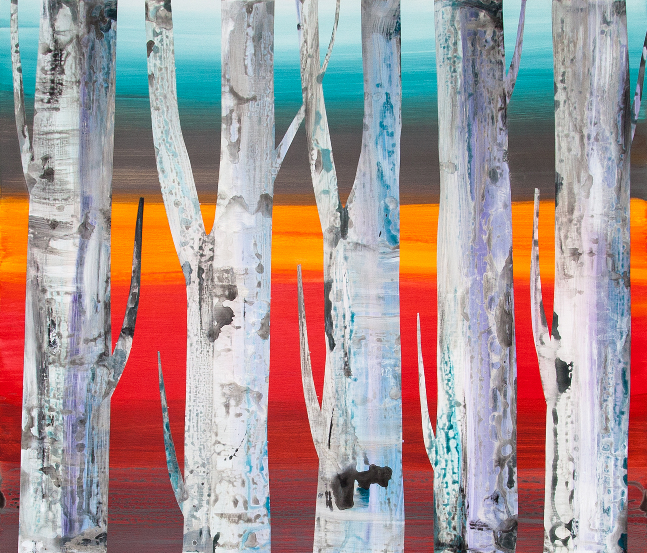 Abstract Trees No.5_48 x 42 inches_2017_at Skeir Gallery