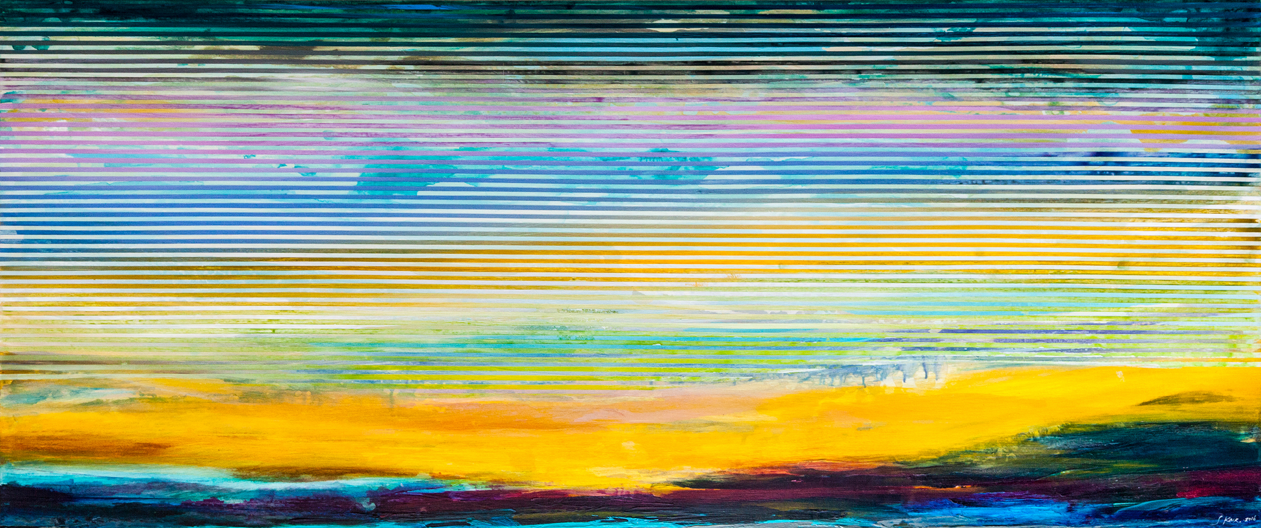 Weaving Landscape No.43_72 x 30 inches_at Beauchamp as of July 2017