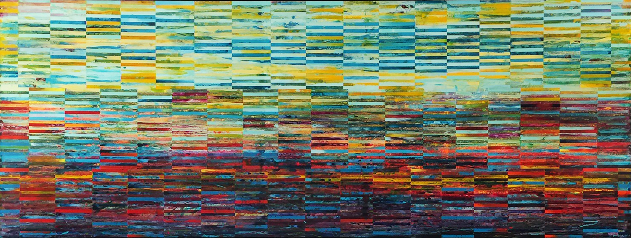 LAKE TO SKY_DNA Landscape series_141.25 x 54.75 inches_ONI ONE_Bentall Kennedy commission for TWO St Thomas condo lobby_2017