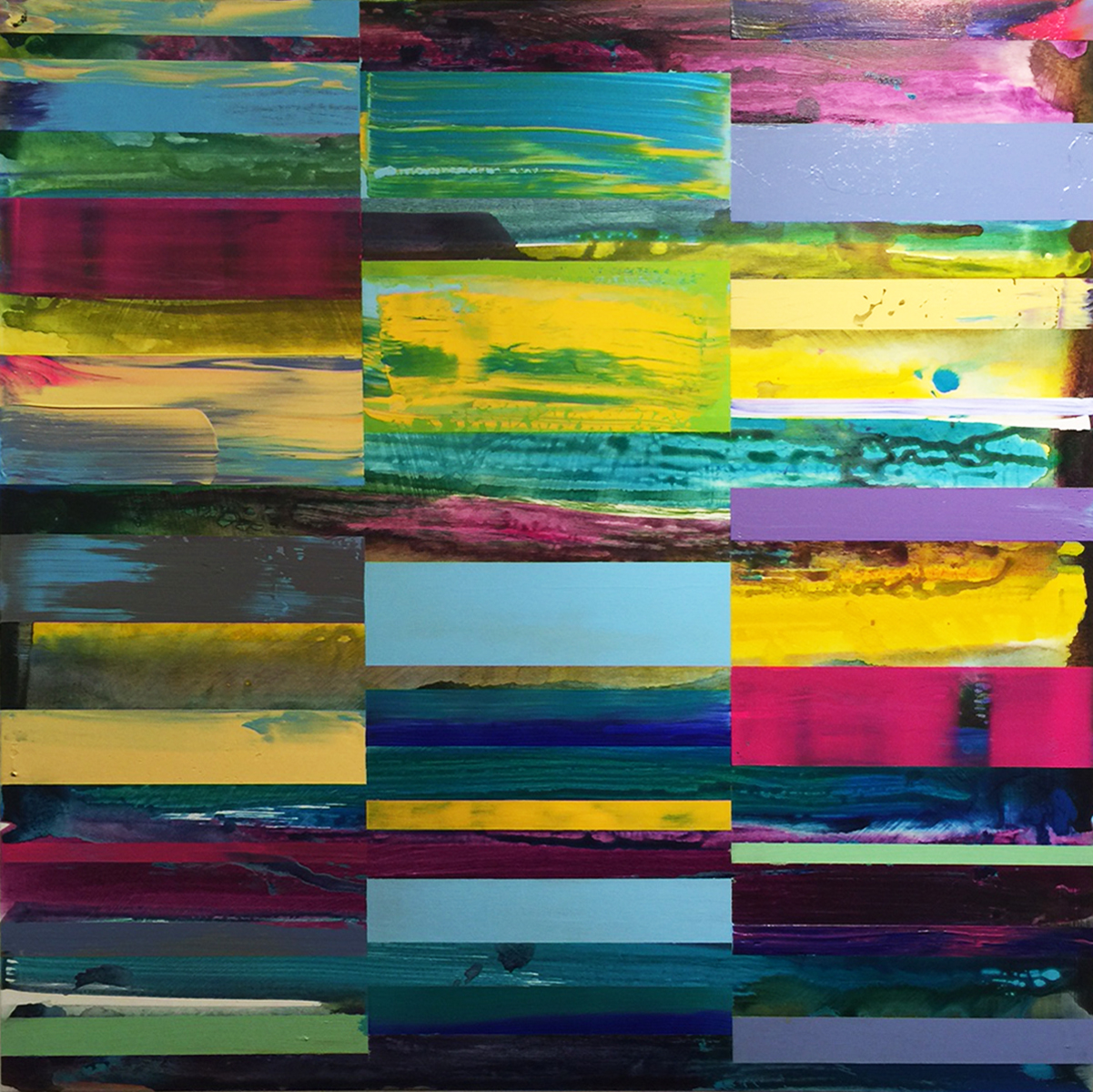DNA Landscape_36 x 36 inches_June 2017_commissioned by Cynthia Colby for office in Toronto_1200.00 plus HST each_1 of 4_A