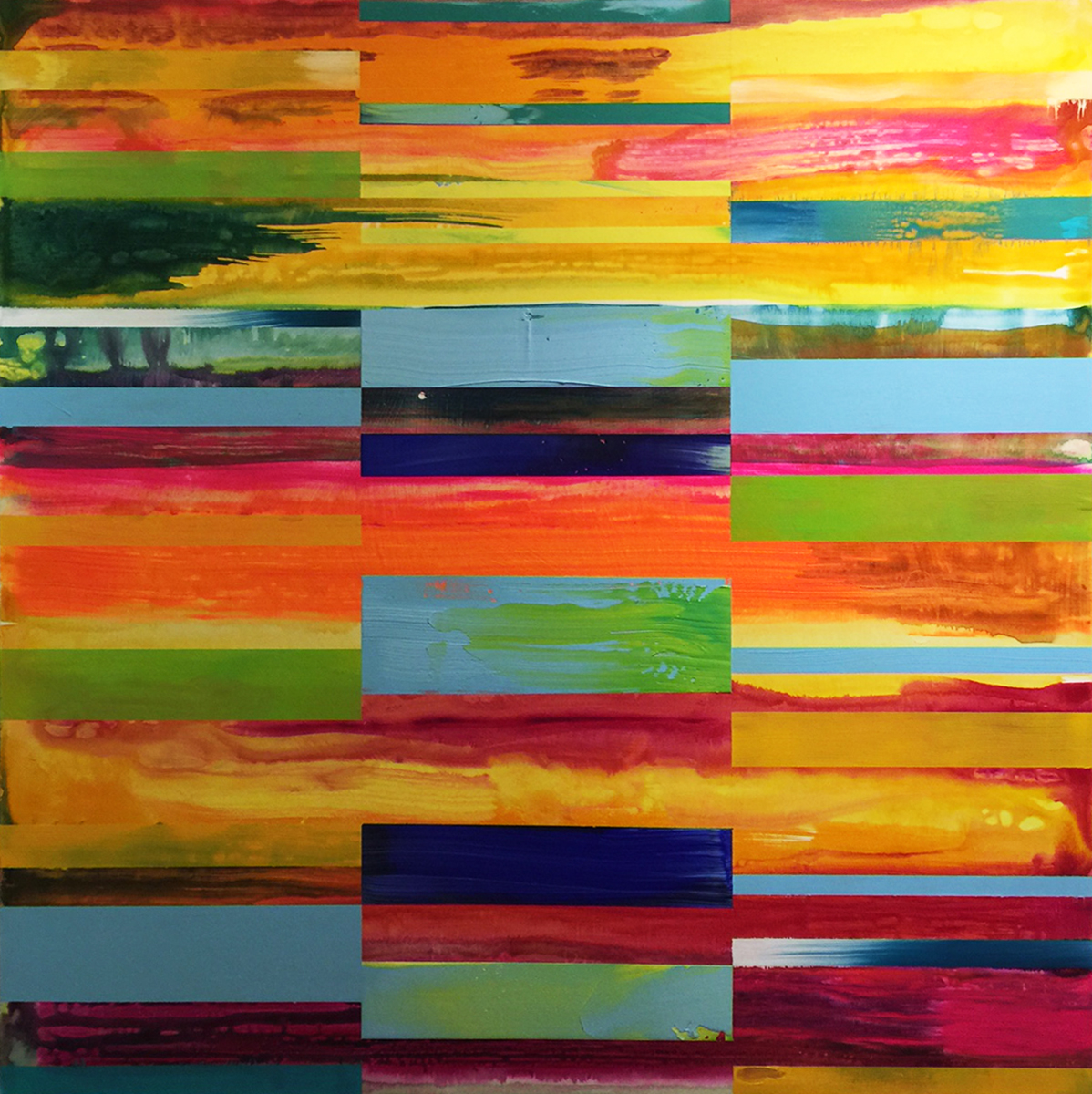 DNA Landscape_36 x 36 inches_June 2017_commissioned by Cynthia Colby for office in Toronto_1200.00 plus HST each_2 of 4_A