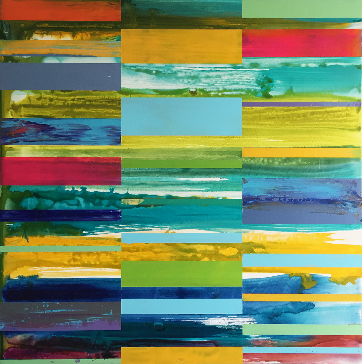 DNA Landscape_36 x 36 inches_June 2017_commissioned by Cynthia Colby for office in Toronto_1200.00 plus HST each_4 of 4_A