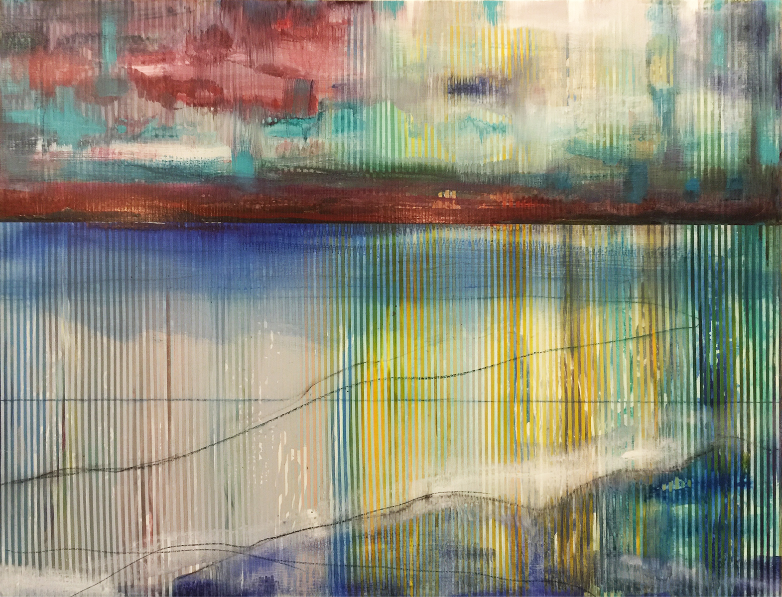 Landscape_Niagara Falls_72 x 48 inches_acrylic on panel_Shawn Skeir_2016