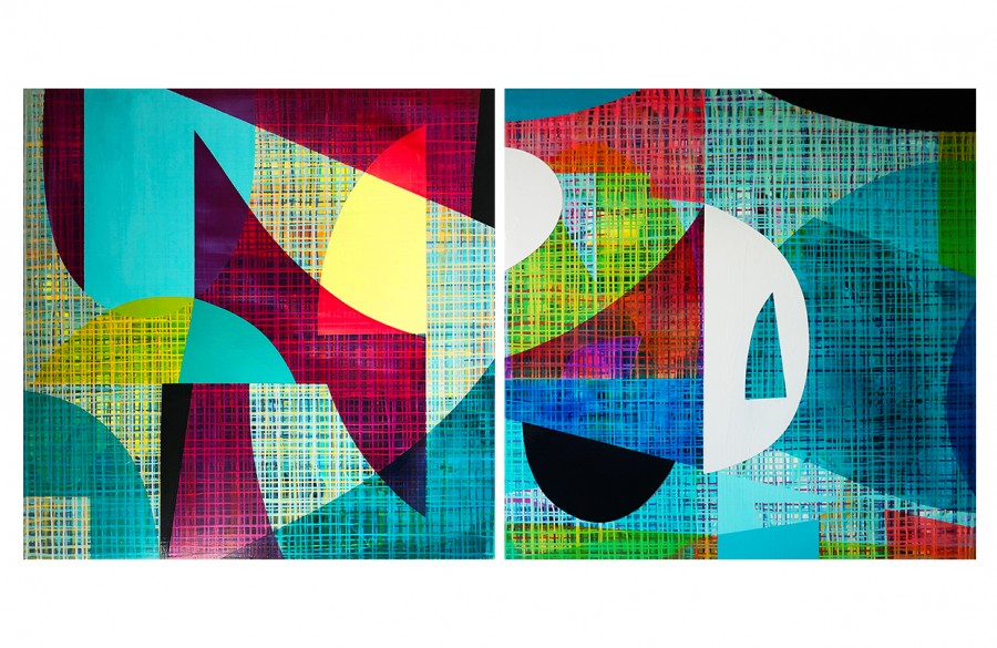 Post-Digital Abstraction (diptych)