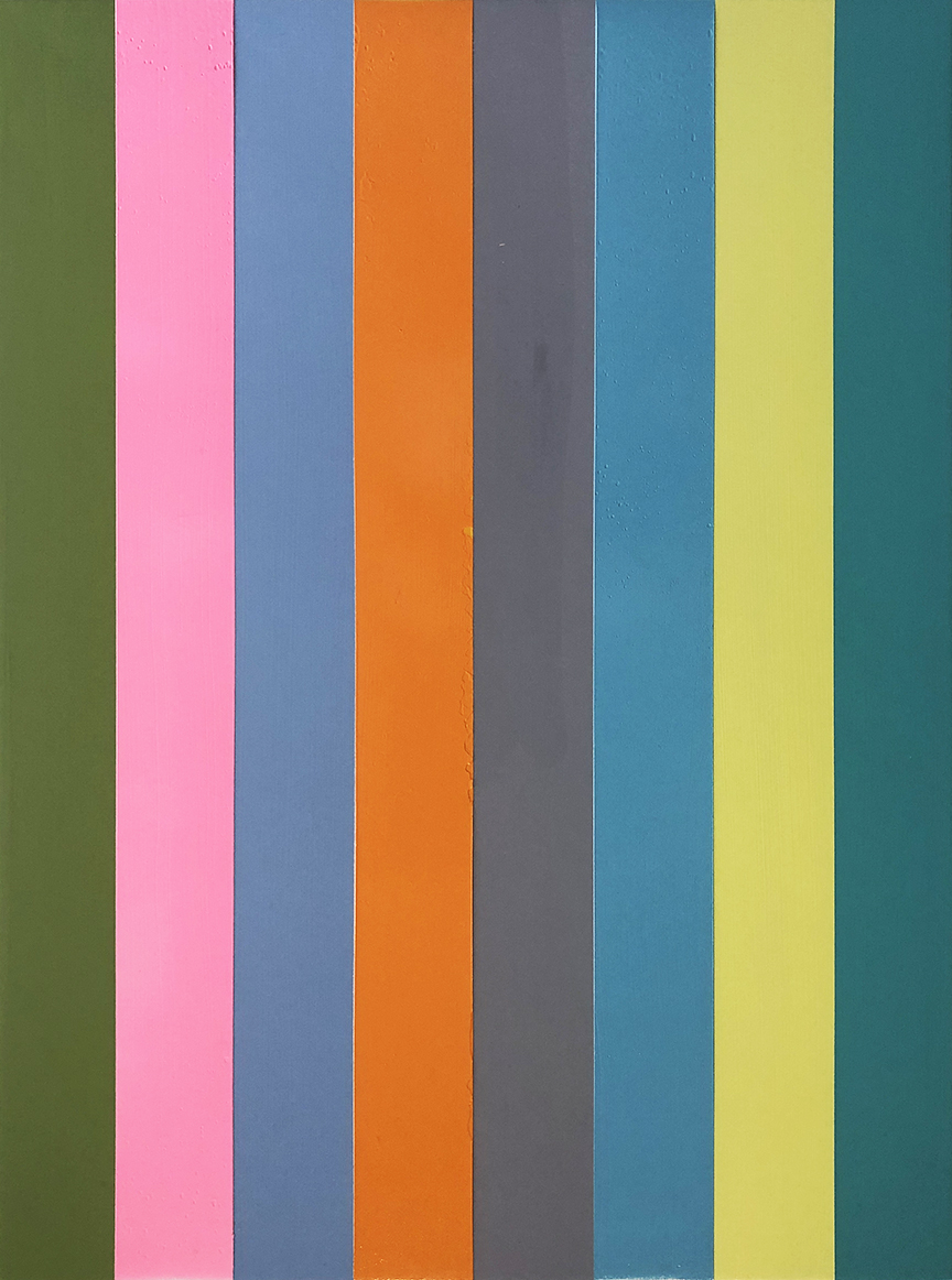 Abstract_vertical stripes_30 x 40 inches_2019_1