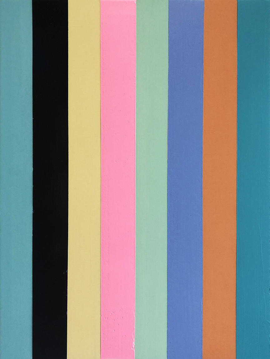 Abstract_vertical stripes_30 x 40 inches_2019_2
