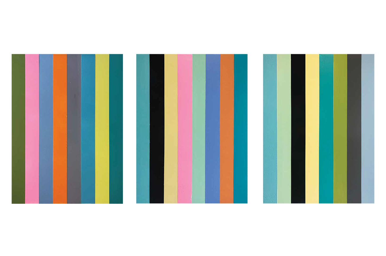 Abstract_vertical stripes_30 x 40 inches_2019_set of three