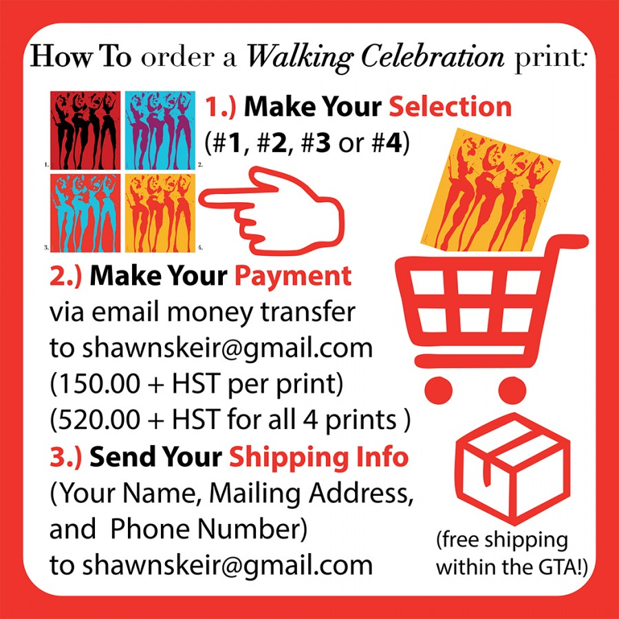 How To order a Walking Celebration print: